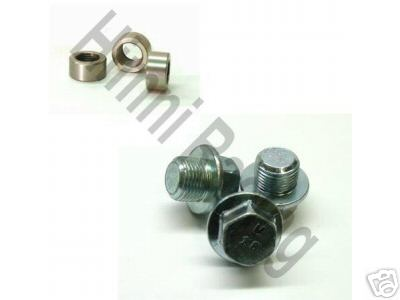 Stainless Steel O2 Sensor Bung Fitting & Plug Set: 18mm