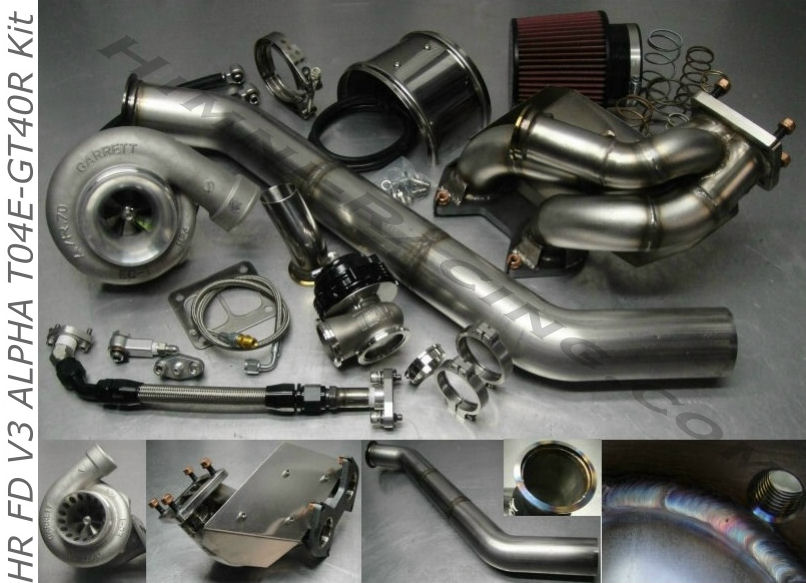 #2 FD V3 ALPHA 93-95 Mazda RX-7 T04R Single Turbo Kit FD3S