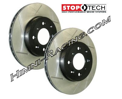StopTech Brake Rotors Front Slotted 4 LUG 86-88 Mazda FC RX7